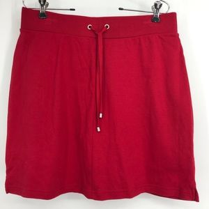 NWOT Croft & Barrow Size Medium Red Knit Skort